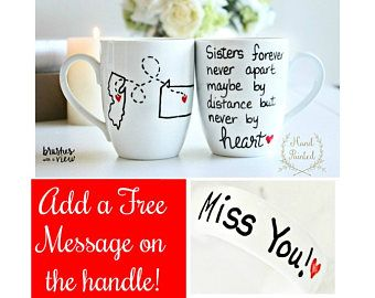 Sister Moving Mug, Sister Moving Gift, Long Distance Sister, State to State Mug, Long Distance Mug, Moving Away Gift, Sisters Forever Mug