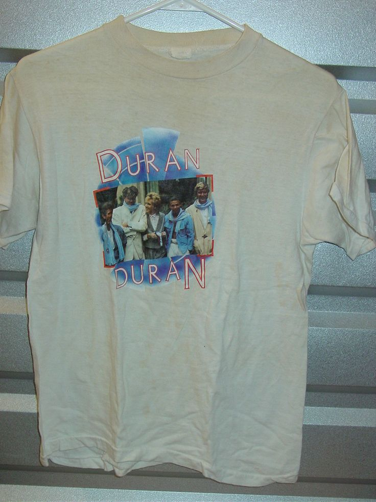 Vintage 1980s Duran Duran rock and roll t shirt Small -  Stained by vintagerhino247 on Etsy