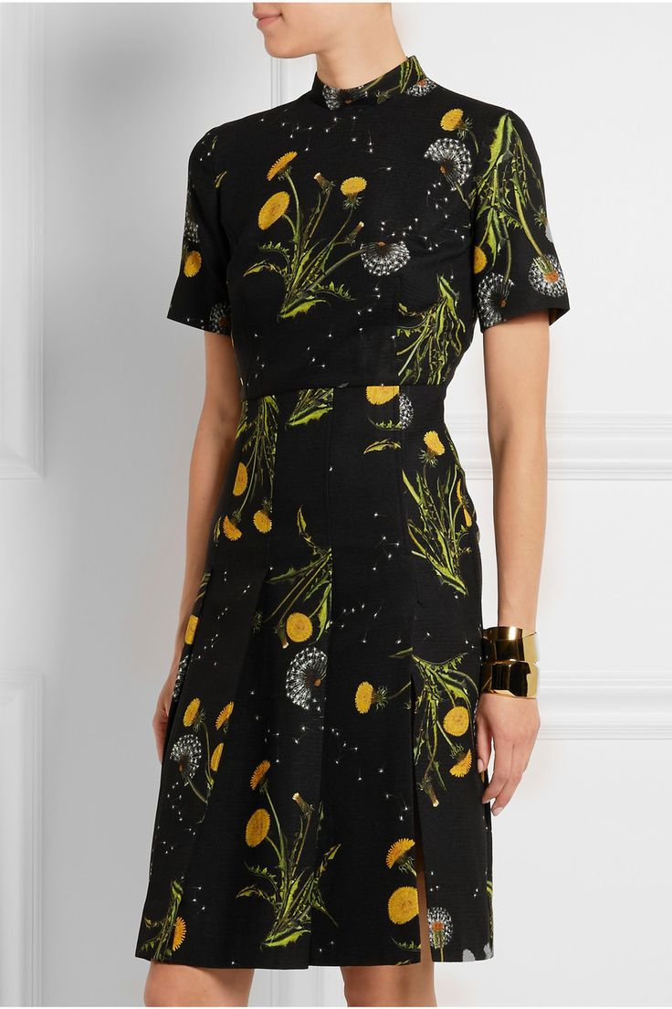 Topshop Unique | Windermere floral-print crepe dress | NET-A-PORTER.COM: