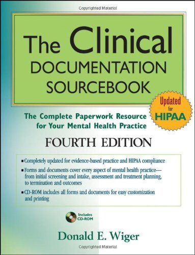 The Clinical Documentation Sourcebook: The Complete Paperwork Resource for Your Mental Health Practice, $71.28