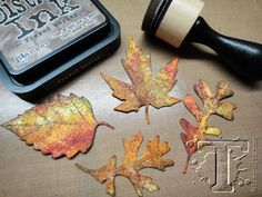 How to create realistic looking fall leaves with Distress Inks