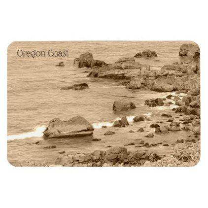 Vintage Look (Sepia) Photograph Oregon Coast Magnet | Zazzle.com