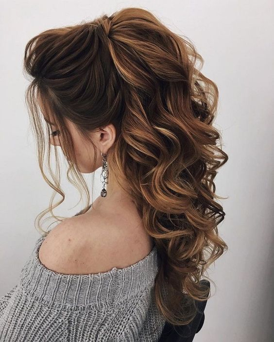 Formal Ponytail Hairstyle; 2019 trend Hairstyle; Hair Styles; Daily Hairstyle; W