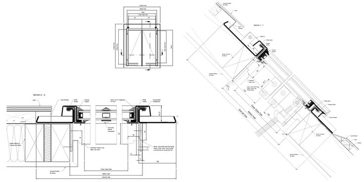 Conservation Rooflight Cross Section Slate Profile Drawings
