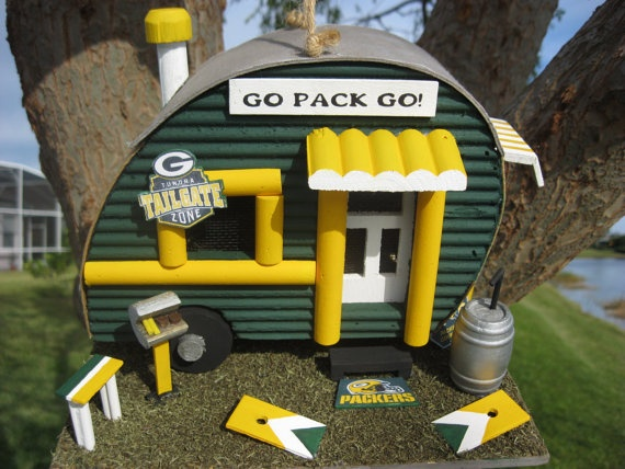 In case Liz ever forces me into a birdhouse...at least I'd get this oneBirdhouses, Green Bay, Greenbay