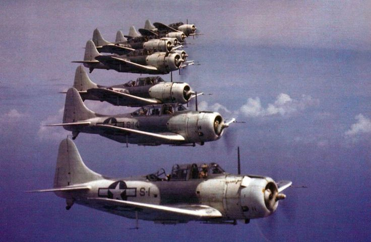 SBD-Dauntless WWII in color