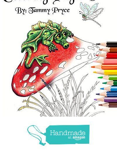 Fantasy Art Coloring Pages Book 1 With Dragons Mermaids Fairies Adult