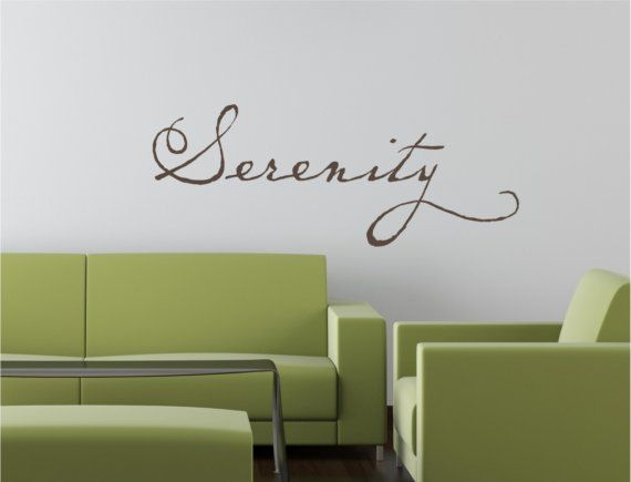 Serenity Quotes Calm | Peace Calm Relax Tattoo Vinyl Decor Wall Lettering Words Quotes ...