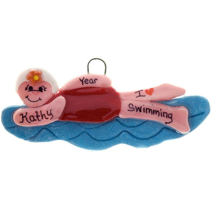 Amazon.com - Born To Swim Ornament - Decorative Hanging Ornaments ...
