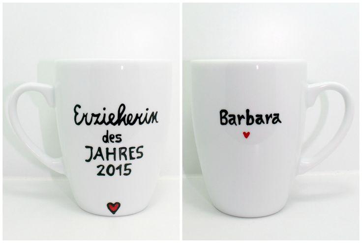 Geschenk für Erzieherin Tasse Erzieherin Jahr 2015 von Lovely-Cups auf DaWanda.com