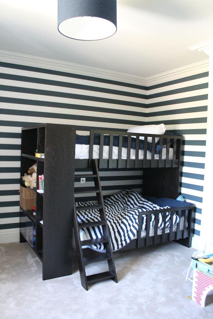 Oak bunk bed.