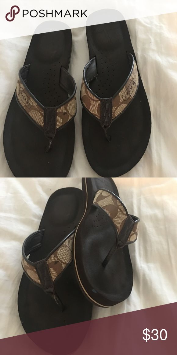 Ladies flip-flops Coach flip-flops, very comfortable just don't use them. Coach Shoes Slippers