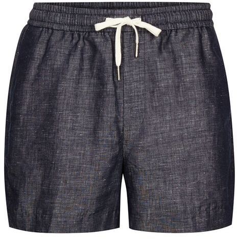 Topman Navy Linen Smart Shorts