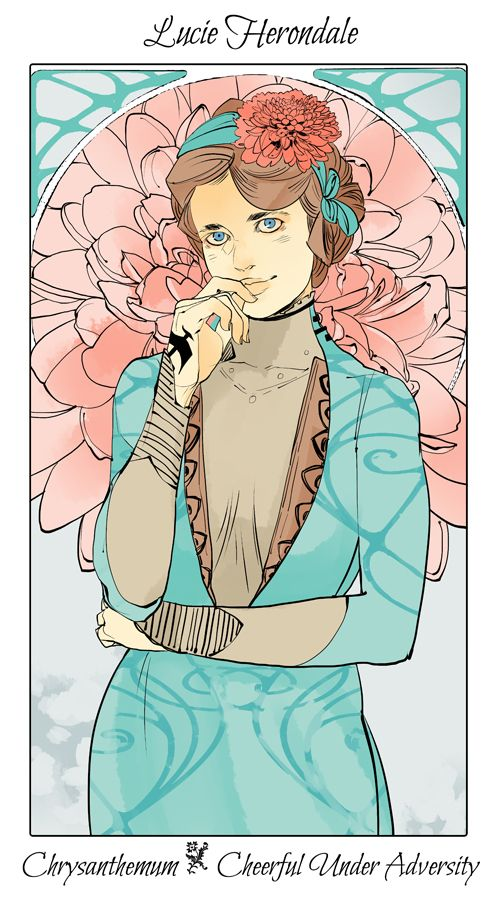 Lucie Herondale - Chrysanthemum (Cheerful Under Adversity): Cassandra Jean: Shadowhunter Flowers Series: *Character belongs to Author Cassandra Clare and her Last Hours Trilogy.