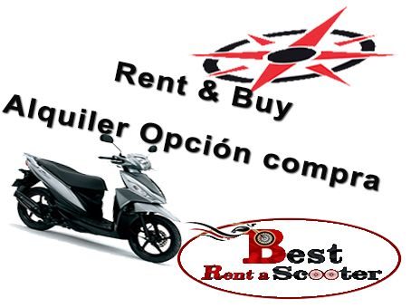 Rent and Buy scooters, motorbikes, mopeds in Barcelona with BEST RENT A SCOOTER
