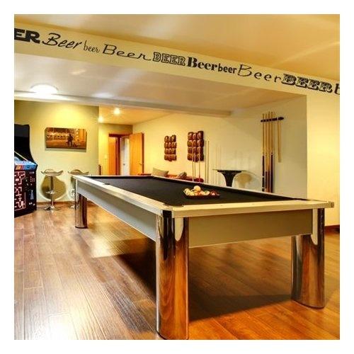 Beer border man cave decor home kitchen cavish for Man cave kitchen ideas