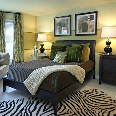 Green and brown bedroom ideas design pictures remodel for Green and brown bedroom designs