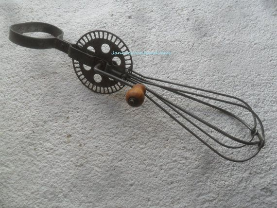 Vintage Rotary Hand Whisk  Advertising  French by TinTack on Etsy, €15.00