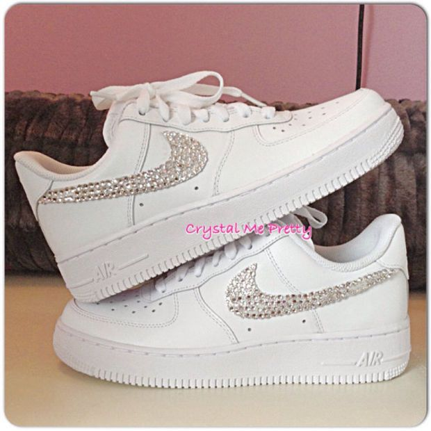Customized Nike Air Force 1 Running Shoes Sneakers Workout Bling Swarovski  Crystals Sizes 5-12  07d35fbdb6b5