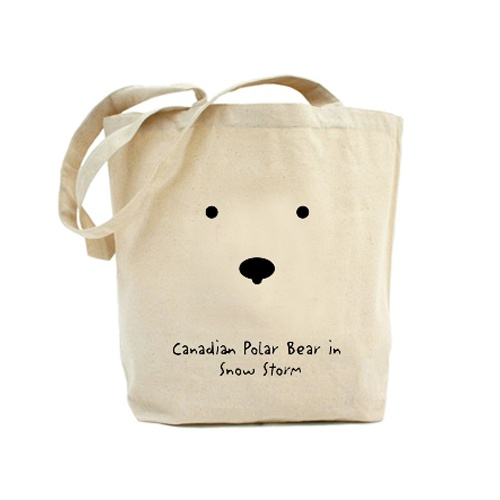 Canvas Bag - Canadian Polar Bear at Night - Canvas Bag. 100% cotton. 10 oz. Printed in Canada. $12.95
