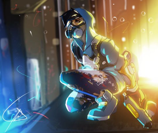Overwatch - Graffiti Tracer -- I  want this skin so bad