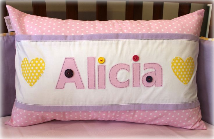 Alicia personalised name scatter Available from Tula-tu Baby Linen