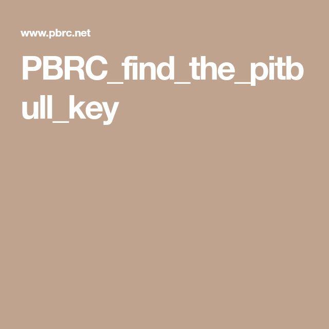 PBRC_find_the_pitbull_key