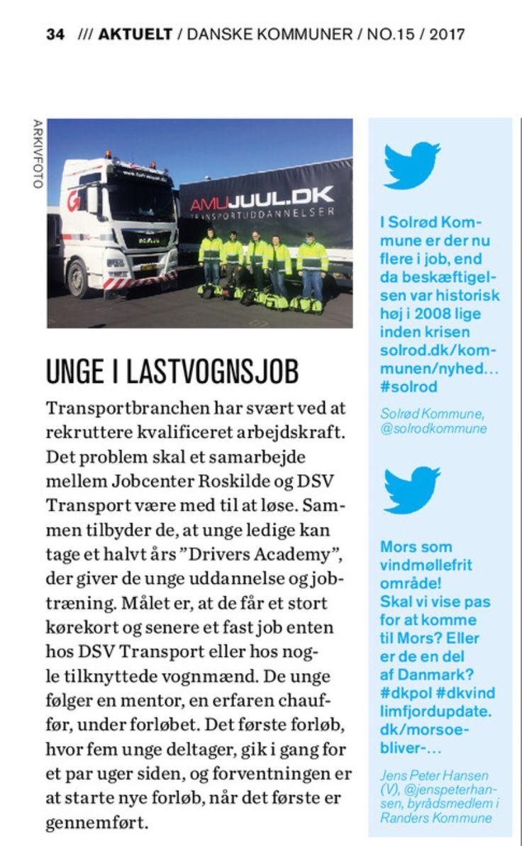 Tredje gang jeg får et tweet videreformidlet i magasinet Danske Kommuner :-)