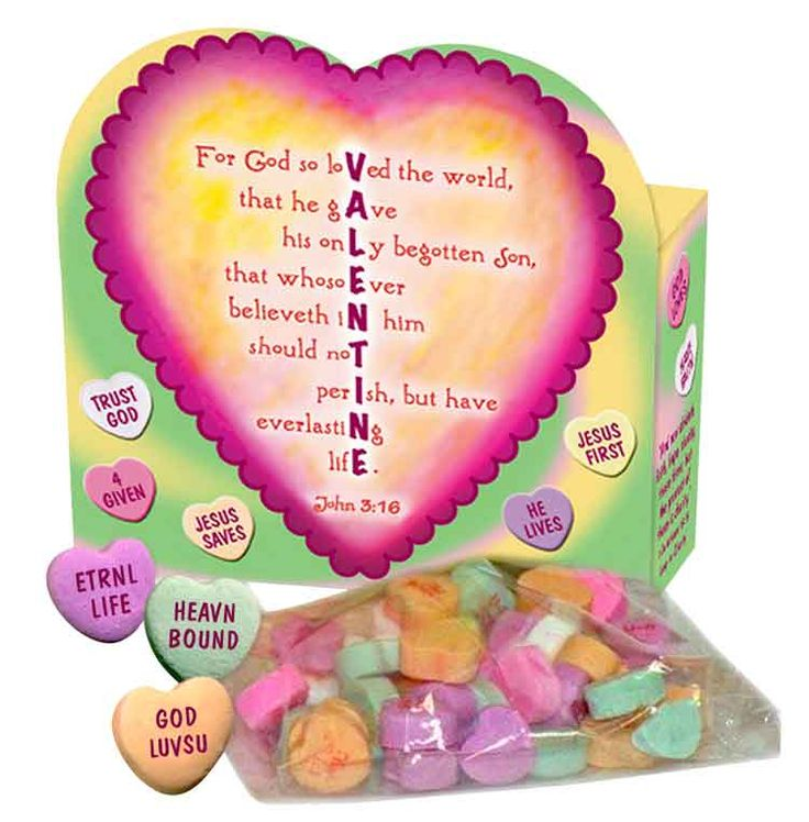 Each heart shaped box features an inspirational valentine for Inspirational valentine crafts