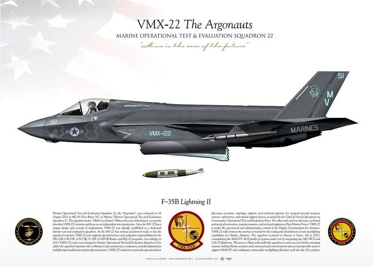 "UNITED STATES MARINE CORPS MARINE OPERATIONAL TEST & EVALUATION SQUADRON XXII (VMX-22) ""The Argonauts"""