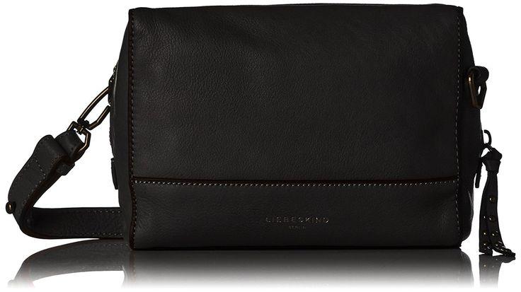 Liebeskind Berlin Damen Syracuse Milano Umhängetasche, Schwarz (Oil Black), 17 x 5 x 21 cm: Amazon.de: Schuhe & Handtaschen