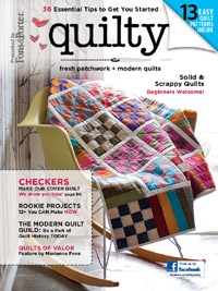Check out this great issue with lots of great Modern Quilt projects to inspire and get you started! Finally, a home for the rookie quilters! http://www.heyquilty.com