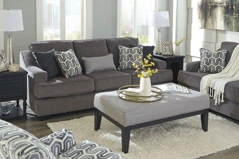 Gilmer Gunmetal Sofa Loveseat Furniture Living Room Furniture Layout White Furniture Living Room