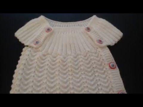 örgü bebek yelekleri örneği ajurlu model - YouTube