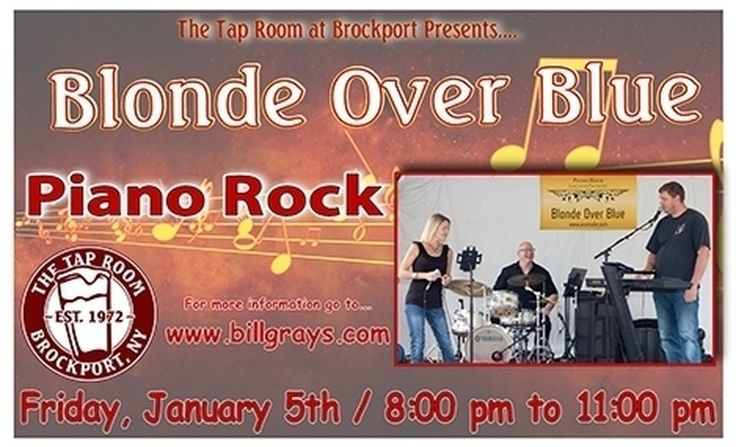 Come join us every FRIDAY from 9:30PM-12:30AM for LIVE MUSIC! This week we are welcoming Blonde Over Blue! #BillGrays #Brockport #BrockportTapRoom #RochesterNY