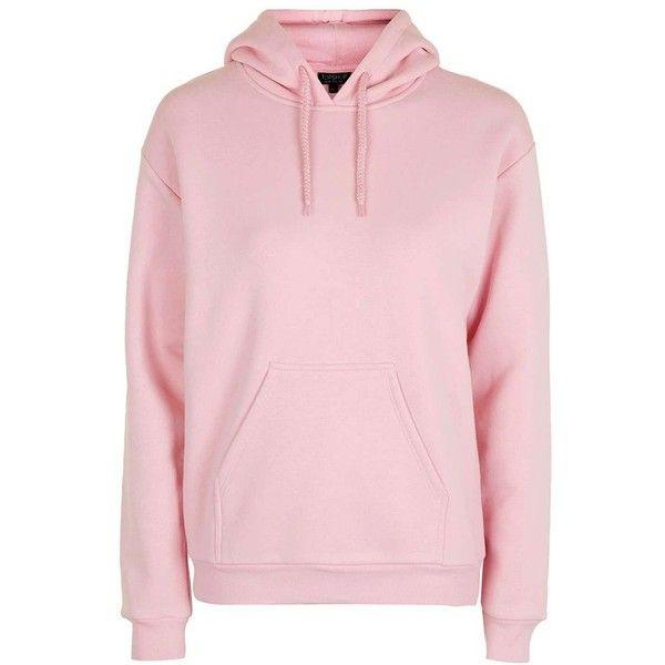Petite Women's Topshop Oversize Hoodie ($50) ❤ liked on Polyvore featuring tops, hoodies, hoodie pullover, pullover hoodie, petite tops, pink hoodie and pink hoodies