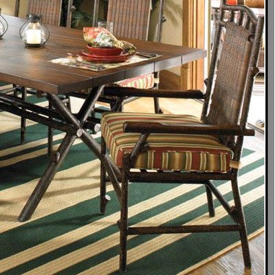 Woodard Chatham Patio Dining Chair with Cushion Fabric: Sunbrella Beachball Bluestone