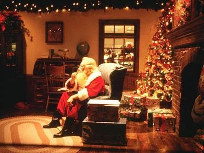 A traditional looking Santa at Christmas