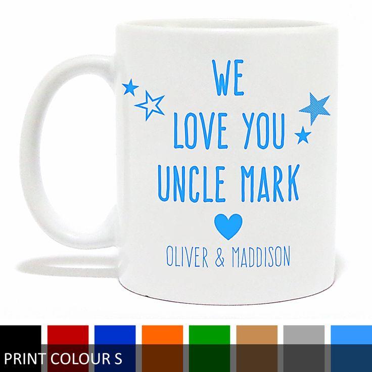 Personalised 'I Love You Uncle' Mug