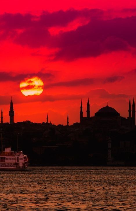 Awesome sunset - Istanbul