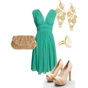 oh, I love the color of the dress! so cool..: Fashion Models, Color, Dresses Shoes, Cute Outfits, Women Health, Health And Beautiful, The Dresses, Turquoise Dresses, Date Night Outfits