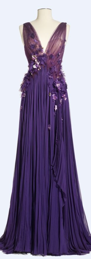Purple... J Mendel Spring 2013 Cindy L.-O'Donnell/Love2BeadbyCindy via lorna onto Fashion Designers
