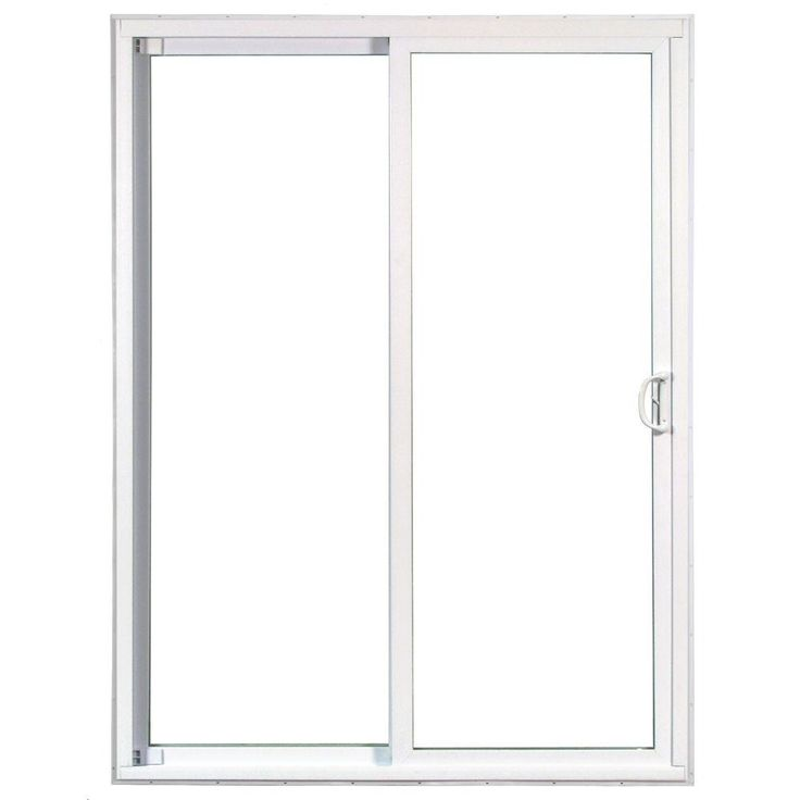 American Craftsman 72 in. x 80 in. 50 Series Left-Hand Assembled Gliding Patio Door, 6/0 LOEA White Vinyl-60557LA - The Home Depot