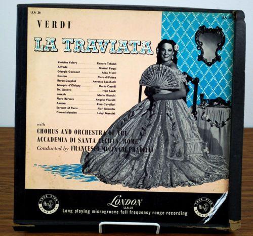1954? Verdi La Traviata Three Vinyl