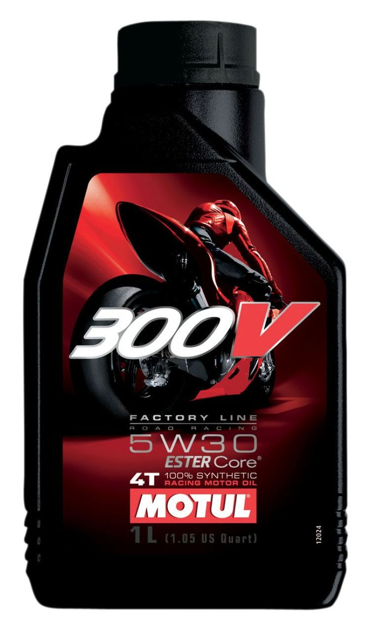 Motul 300V Factory Line ROAD RACING 4T 100% Synthetic. Grade 5W30, 5W40, 10W40 & 15W50. Available in 1, 4, 60 & 208L.