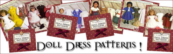 Original Pleasant Company American Girl Doll patters - FREE download.  I have most of the originals but was glad to find all of them online - I have made several of Kirsten & Samantha's outfits in the past - patterns were easy to follow.