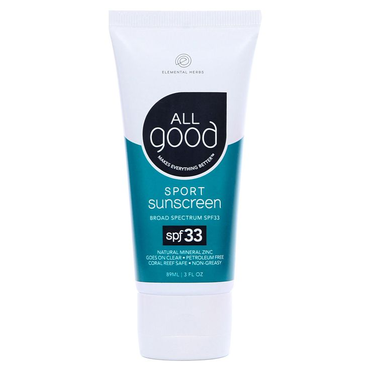 Elemental Herbs - Zinc Sunscreen SPF33 , $15.99   In our SPF 33 sunscreen sport we have the safest sun protection ingredient: pure non-nano zinc oxide. Safe for coral reefs, safe for kids and safe for you.   • UVA/UVB Broad Spectrum Protection • 100% GMO Free • Hypo-Allergenic • Gluten Free • Vegan • Non-Nano • PABA Free • Paraben Free • Biodegradeable  Active Ingredient: Zinc Oxide 22.5% (Non-nanoparticle)  (http://www.elementalherbs.com/zinc-sunscreen-spf33/)