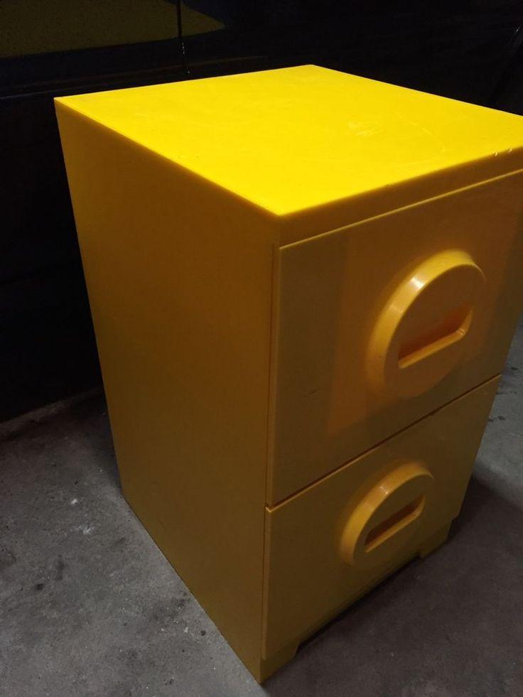 MOD Mid Century Plastic File Cabinet Akron -Mills Yellow