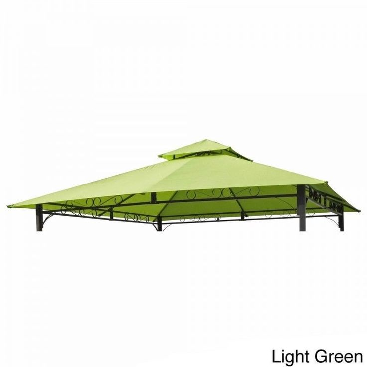 10x10 #Gazebo #Replacement #Canopy Top Cover 2 Tier Vented #Outdoor Garden Yard New