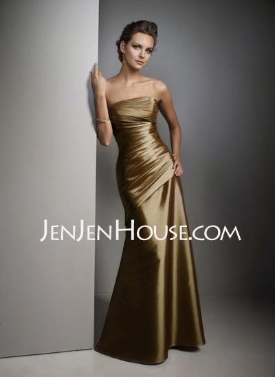 Bridesmaid Dresses - $97.99 - A-Line/Princess Strapless Floor-Length Taffeta Bridesmaid Dresses With Ruffle (007004109) http://jenjenhouse.com/A-line-Princess-Strapless-Floor-length-Taffeta-Bridesmaid-Dresses-With-Ruffle-007004109-g4109